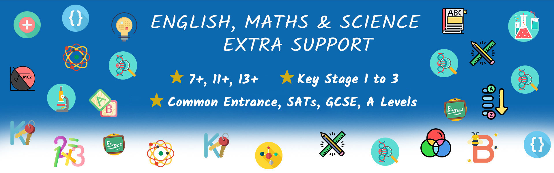 english, maths and science tuition